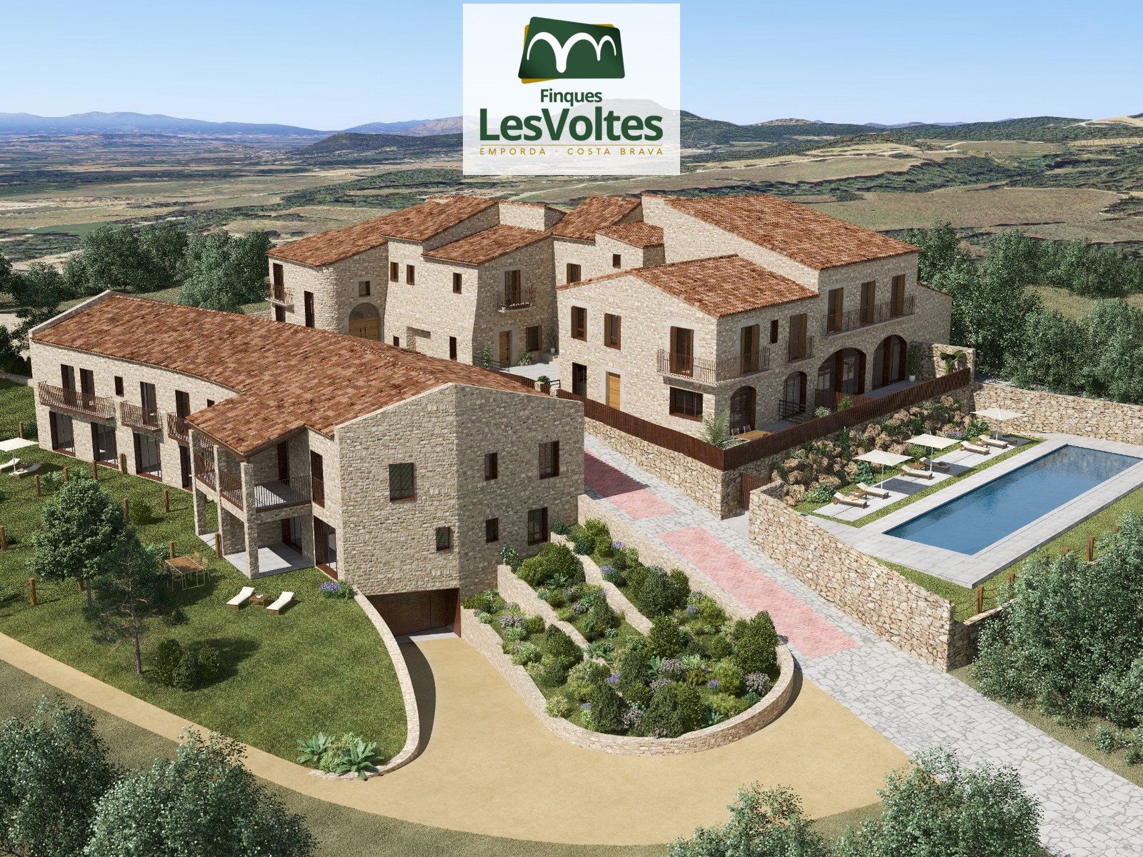 Exclusive promotion of 3 fully rehabilitated houses with interior playground and community pool for sale in Esclanyà.